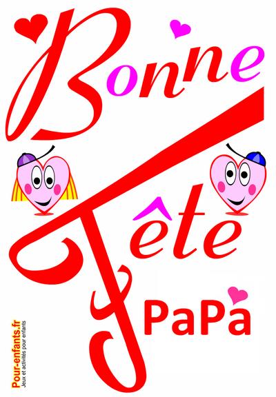 Bonne f te papa dessin imprimer en grand texte bonne - Fetes des peres 2016 ...